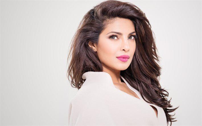 Priyanka Chopra, portrait, makeup, Indian actress, beautiful woman