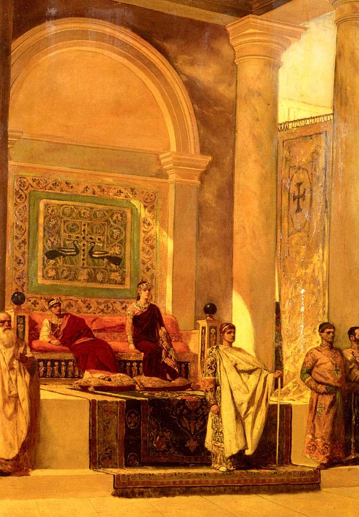 "Benjamin Jean Joseph Constant, ""The Throne Room in Byzantium"", oil on canvas, Private Collection"