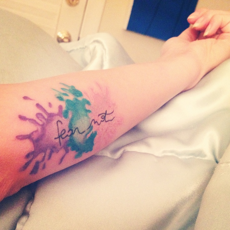 My paint splatter tattoo!