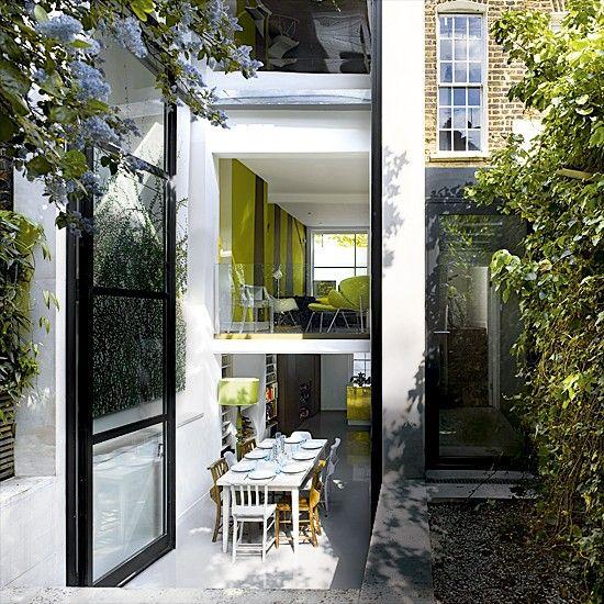 Modern garden terrace