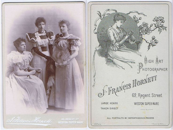 CABINET CARD Victorian Ladies in Evening Gowns by Hornett of Weston Super Mare