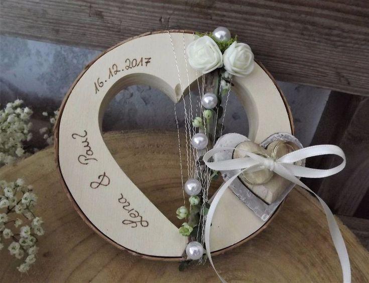 Ringkissen Ringhalter Herz rund Holzherz für Eheringe mit Namen Hochzeit Liebe | Kleidung & Accessoires, Hochzeit & Besondere Anlässe, Braut-Accessoires | eBay!