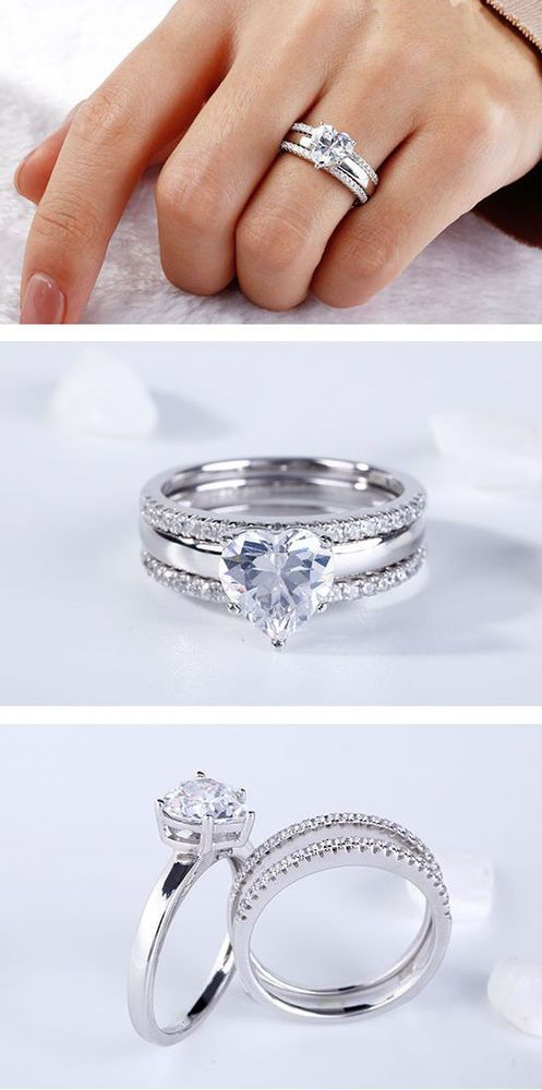 Save Price 33 60 15 Off Sale 925 Sterling Silver Cz White Heart
