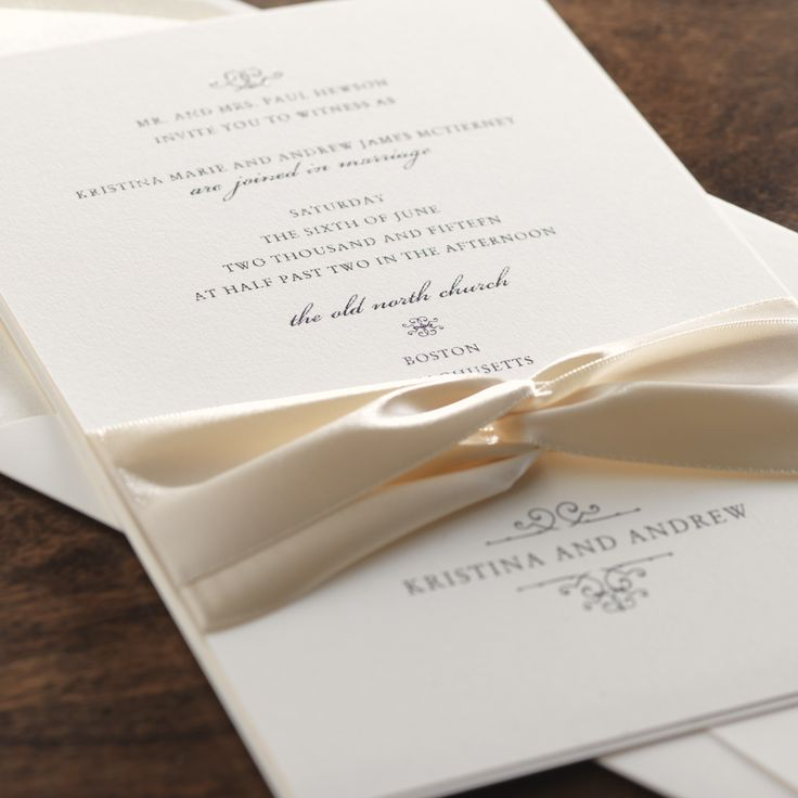 how to address wedding invitations inside envelope%0A Classic and Elegant Wedding Invitation
