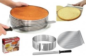 zenker layer cake slicing kit - makes up to 8 evenly sliced layers.: Desserts, Layered Cakes, Cakes Slices, Cakes Layered, Interiors Design, Cakes Pan, Neat Ideas, Cool Products, Slices Kits