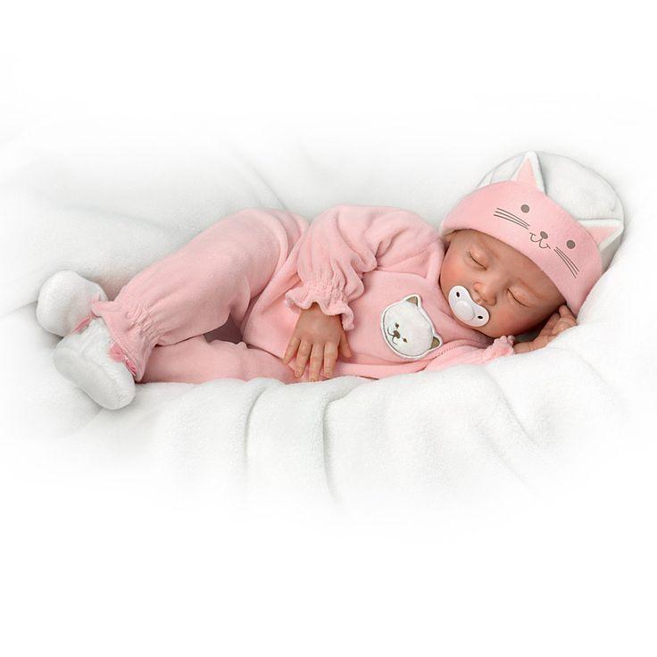Ashton Drake Sleeping Beauty Doll: Amazon.com: Katie, My Sweet Little Kitten So Truly Real