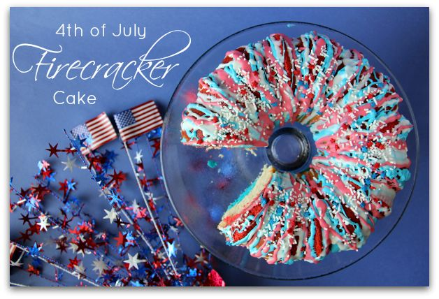 Red, White and Blue Firecracker cake!