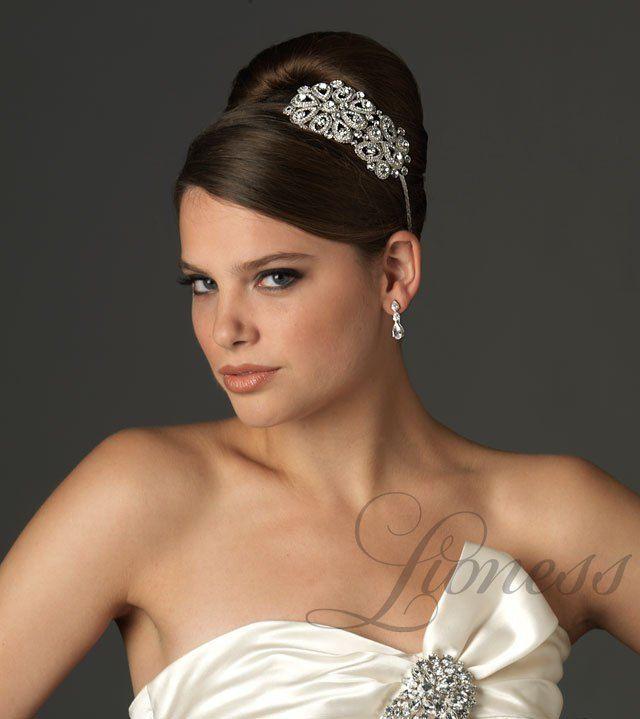 """Роскошный ободок для невесты с кристаллами """"Лукреция"""""""