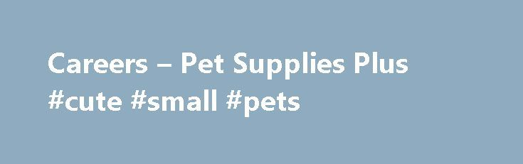 Careers – Pet Supplies Plus #cute #small #pets http://pet.remmont.com/careers-pet-supplies-plus-cute-small-pets/  Currently Pet Supplies Plus has openings for part-time cashiers and stock team members and managers. We need people who want to have a great job where they can grow as a person, develop as a leader, and meet the financial needs of their current situation. Whether you are a high-school or college age person needing extra income or an adult with specific income needs Pet Supplies…