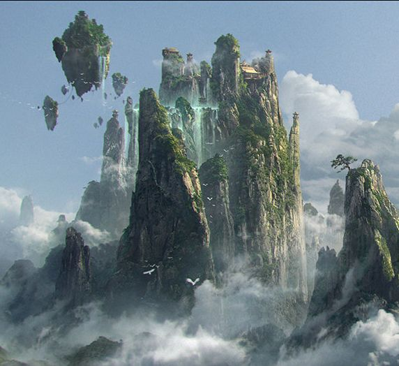 Fantasy Art Engine | Skyscapes by Huang Gin