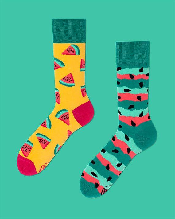 Watermelon Splash Socks | men socks | colorful socks | cool socks | mismatched socks | frutis socks | summer socks | crazy socks
