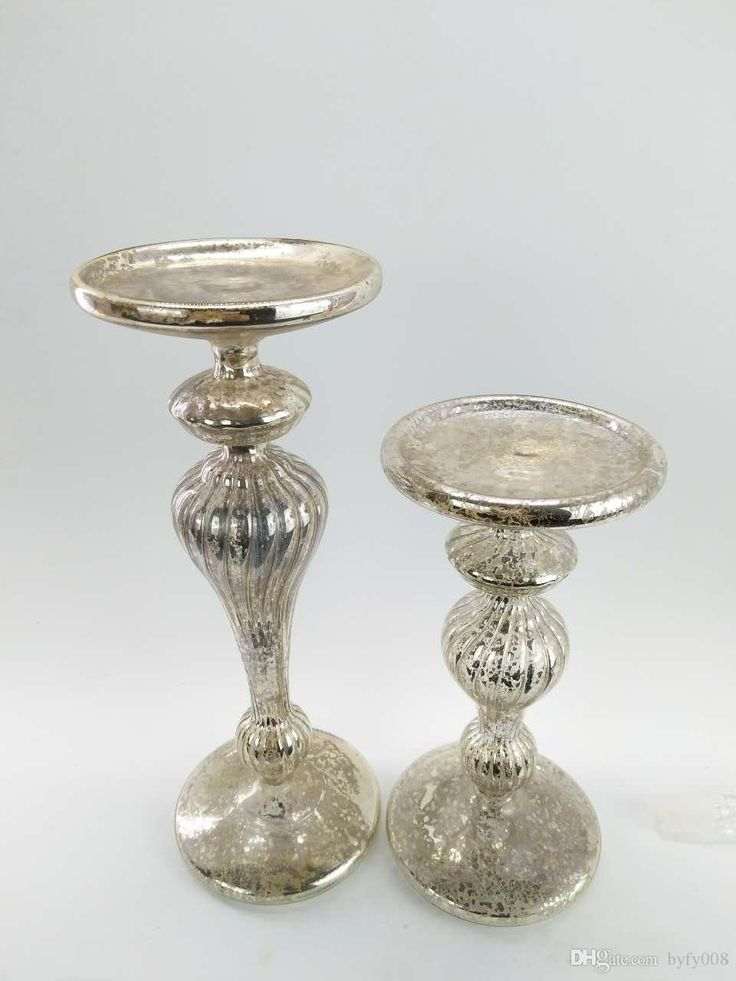 Antique Silver Glass Candlestick, High 26cm And 20cm, A Set Of 2 Table Candle Holders Tall Black Candle Holders From Byfy008, $23.12  Dhgate.Com