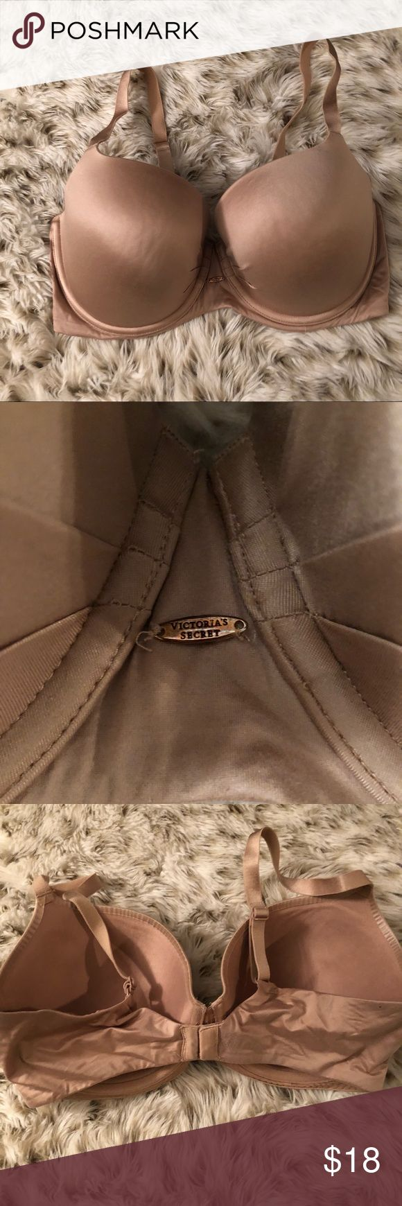 Victoria's Secret nude Lined Demi 36DD Bra Victoria's Secret nude Lined Demi bra. Size 36DD. Excellent used condition! Full coverage. Victoria's Secret Intimates & Sleepwear Bras