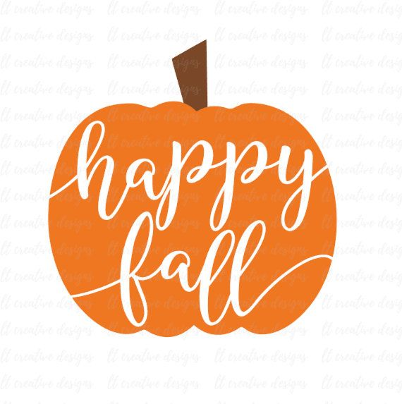 Happy Fall SVG Happy Fall Pumpkin SVG Pumpkin by LTCreativeDesigns