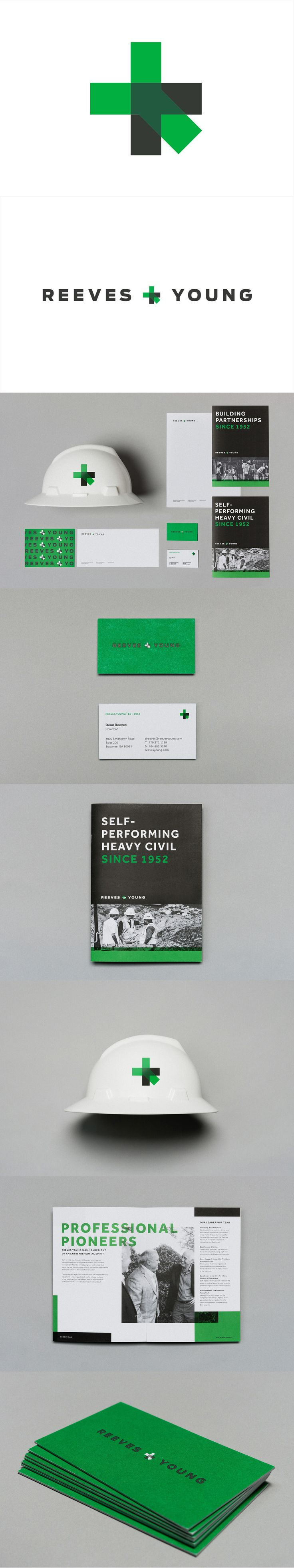 Reeves & Young by Matchstic, more inspiration here: http://ibrandstudio.com/inspiration/construction-company-identity-designs