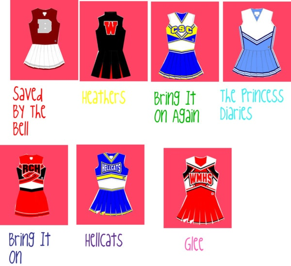 """Famous Cheerleader Uniforms"" by glitter-princess2045 ❤ liked on Polyvore"