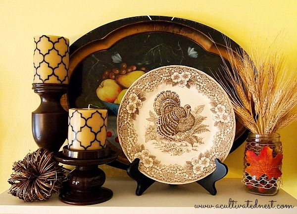 Thanksgiving Decorations & 27 best Turkey Plates images on Pinterest | Turkey dishes Turkey ...