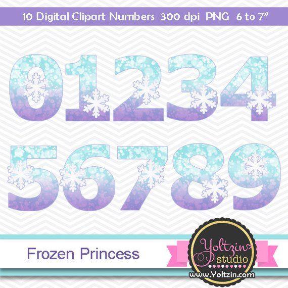 Frozen Clipart Numbers Princess Frozen Clipart Elsa Anna Clip Art Numbers Fozen Clipart Prince Clip Art Frozen Digital Clip Art