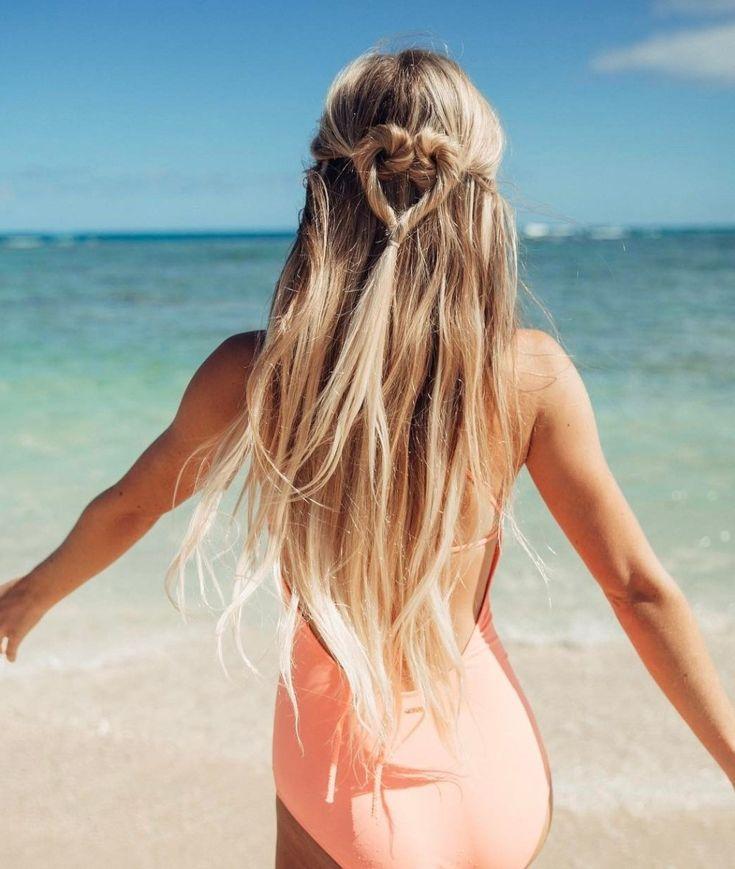 Картинки девушка пляж волосы