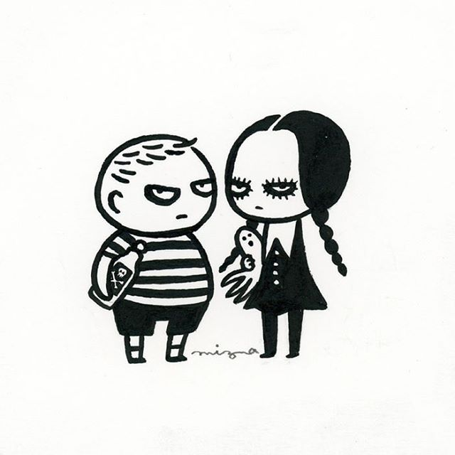 #drawlloween Day 23 - Addams Family  #mabsdrawlloweenclub #addamsfamily…