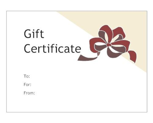 red bow gift certificate