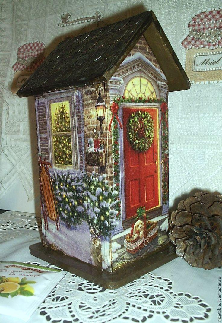 Купить Чайный домик. Рождество. - чайный домик, домик, домики, домик для чая, домик для собаки