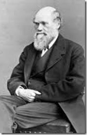 Charles Robert Darwin with the hidden hand and Devil's Claw of a Freemason, ILLUMINATI or Rosicrucian,