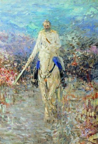 Equestrian portrait of Alexander II  - Ilya Repin