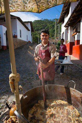 Cooking chicharon, San Sebastian del Oeste, Mining town near Puerto Vallarta, Jalisco, Mexico   Douglas Peebles