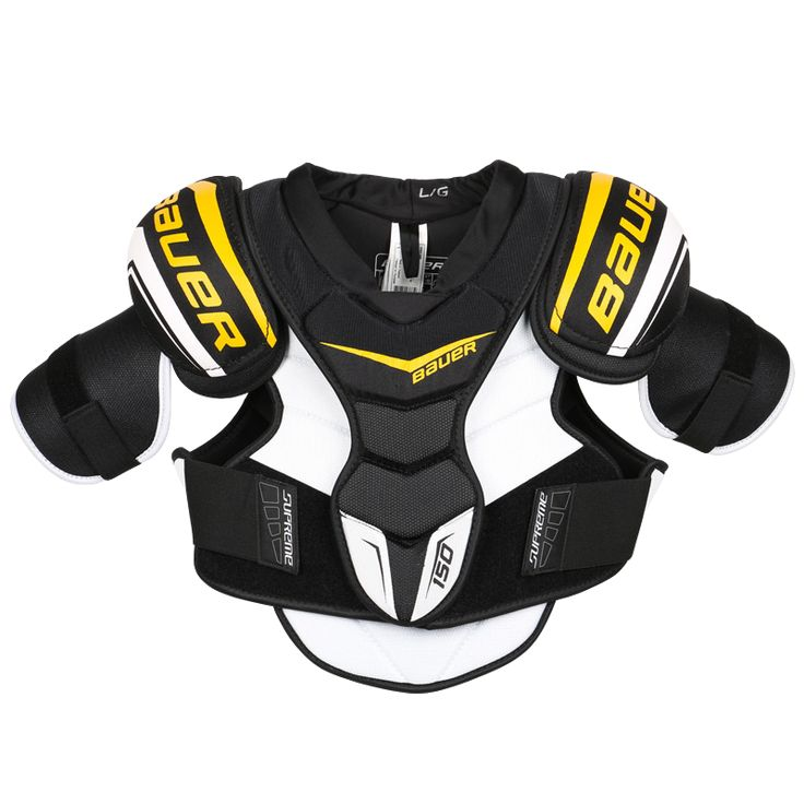 Bauer Supreme 150 Hockey Shoulder Pads - Junior Features Protection Shoulder Cap Thermoformed cap with PU foam Sternum HD foam inserts PE inserts