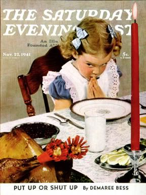 norman rockwell thanksgiving | Norman Rockwell... Being Thankful & Anxious to get get started... :-)  :-)
