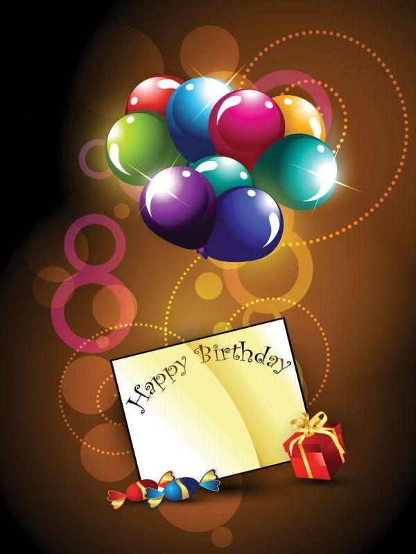 Happy Birthday Postcard - Vector Material