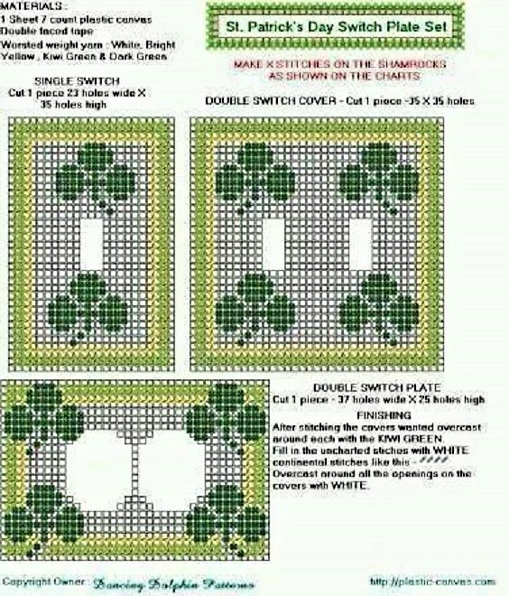 Counted Cross Stitch Light Switch Covers