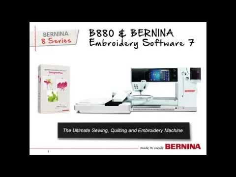 BERNINA 880 - Tool Tip - Creating Stitches with BERNINA Embroidery Software 7 - YouTube