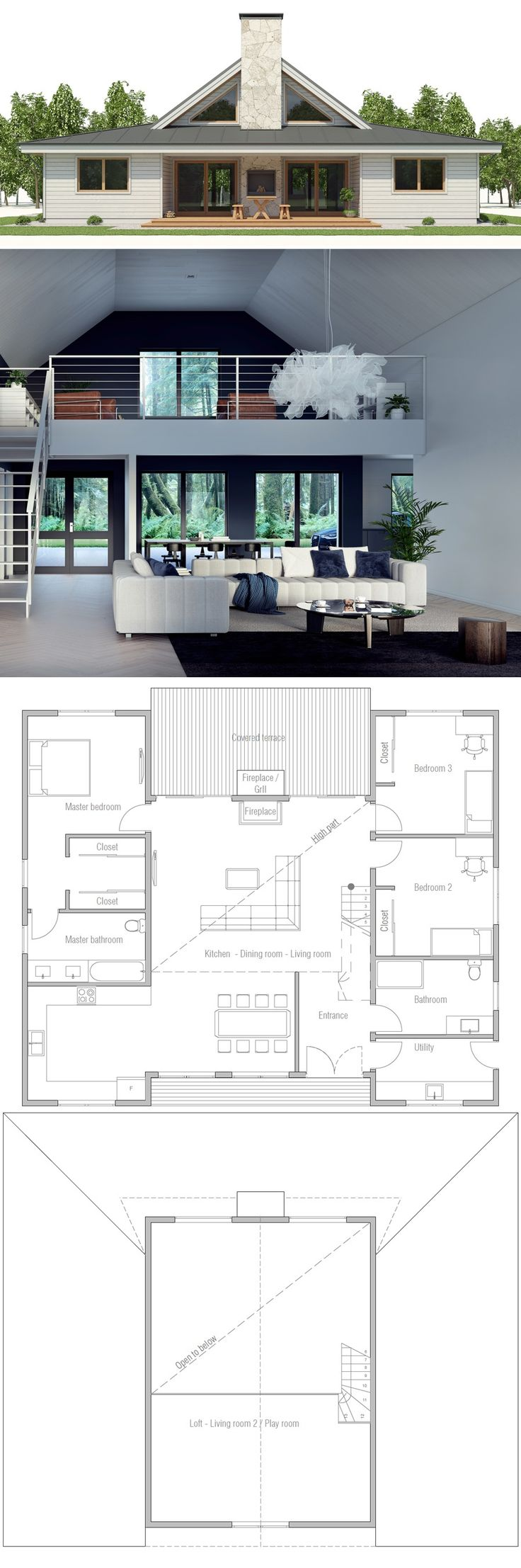 Small House Plan, Shipping container home plan, modular house plan