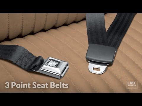 LMC Truck: 3-Point Retractable Seat Belt Kits