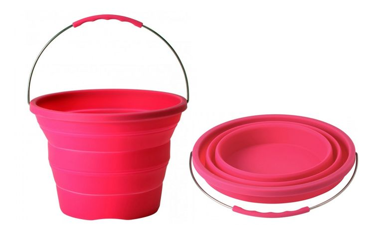 Collapsable Camping Bucket available in funky colours £19.95 @ Boutique Camping