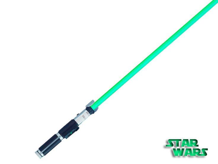 Espada Sable Láser Star Wars.Yoda, Ultimate FX, Hasbro Réplica de gran calidad del sable láser utilizado por el Maestro Yoda en la saga Star Wars, con efectos de luz y sonido.