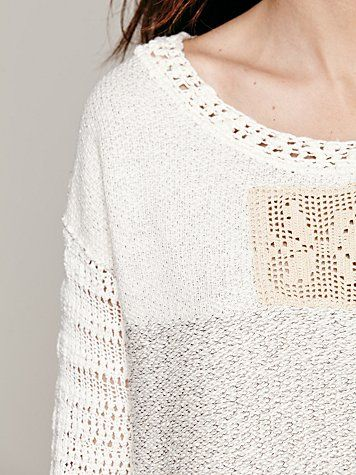 Crochet Patched Pullover