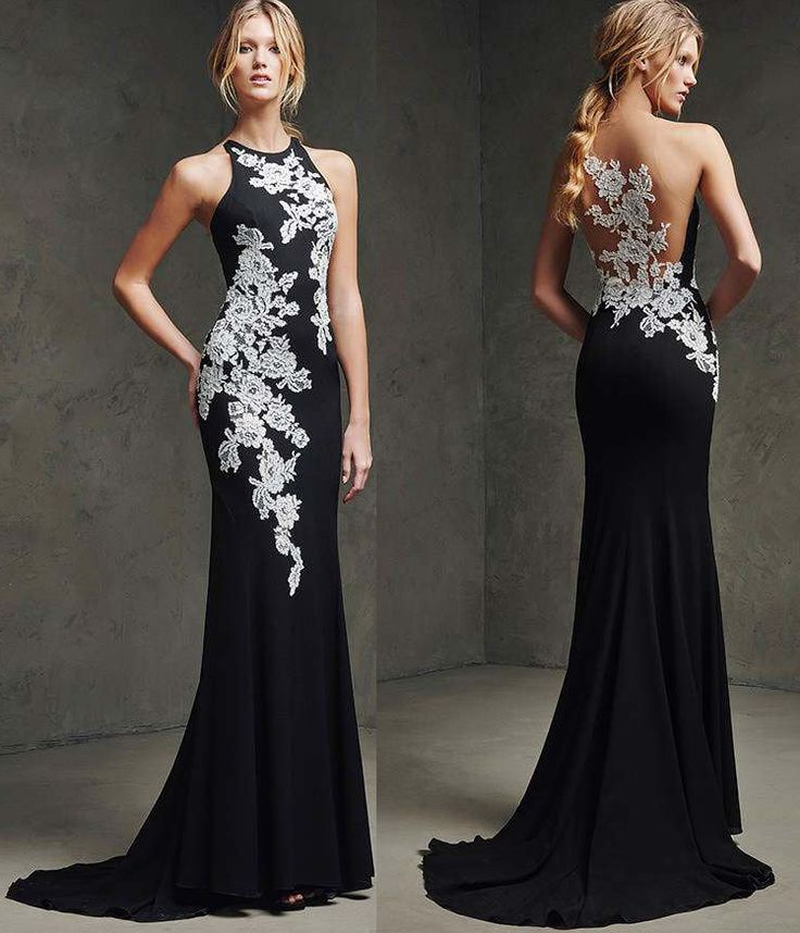 Prom dresses Stunning lace chiffon Party dresses prom