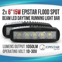 2x15W LED LIGHT BAR SPOT Daytime Running LIGHT Work Light OFFROAD 4WD BOAT UTE