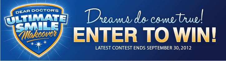 Win a Dental Makeover - Enter Today!  http://www.deardoctor.com/makeover/