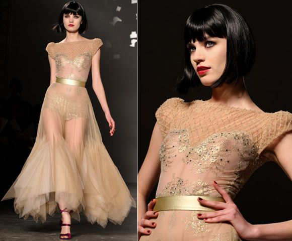 Peach and gold on show in Paris