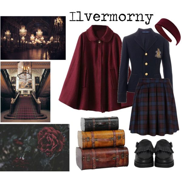 Ilvermorny uniform by sinful-goddess on Polyvore featuring Ralph Lauren, The WhitePepper and Miss Selfridge