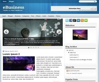 eBusiness Blogger Template