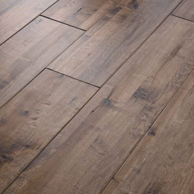 """Shaw Floors Grand Canyon Vista 8"""" Composite Solid Handscraped Maple in Desert View"""