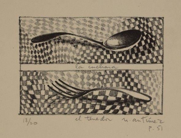 La cuchara y el tenedor. Nemesio Antúnez. 1951.