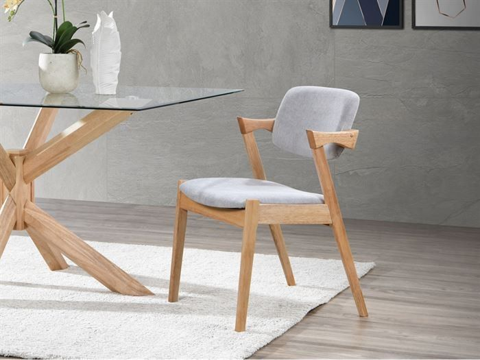 Bella Dining Chair Hardwood Frame In 2020 Fabric Dining Chairs