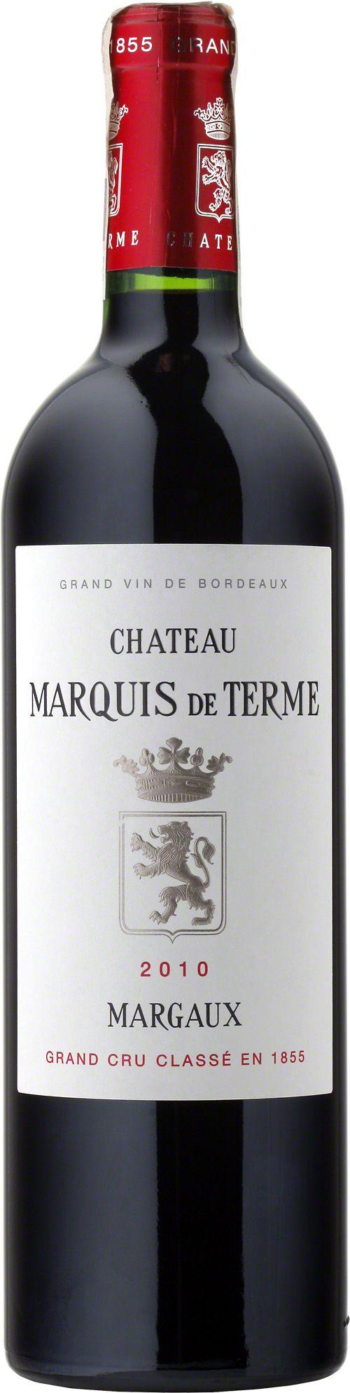 Chateau Marquis De Terme 4-Eme G.C.C. Margaux Wino klasyczne dla apelacji, rubinowo-granatowy kolor, mocne taniny, świetnie zrónoważone, aromaty czarnych porzeczek, wiśni, tytoniu i kakao. #Wino #Margaux #Bordeaux #Winezja