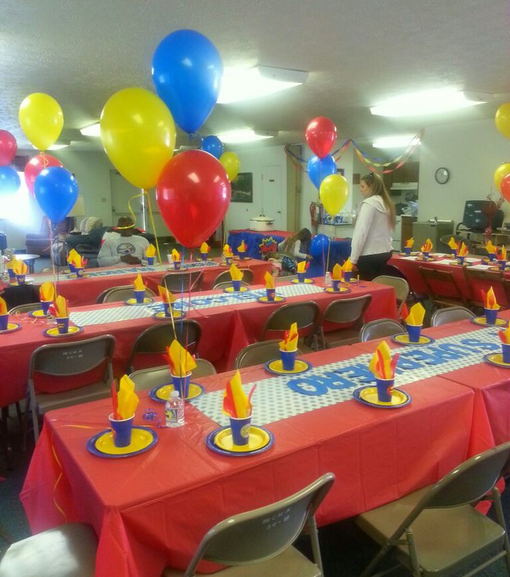 Superman Baby Shower (baby shower birthday table decor diy)